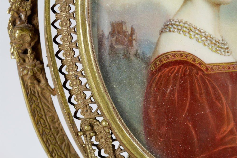19th C. Miniature Portrait of a Lady - 7