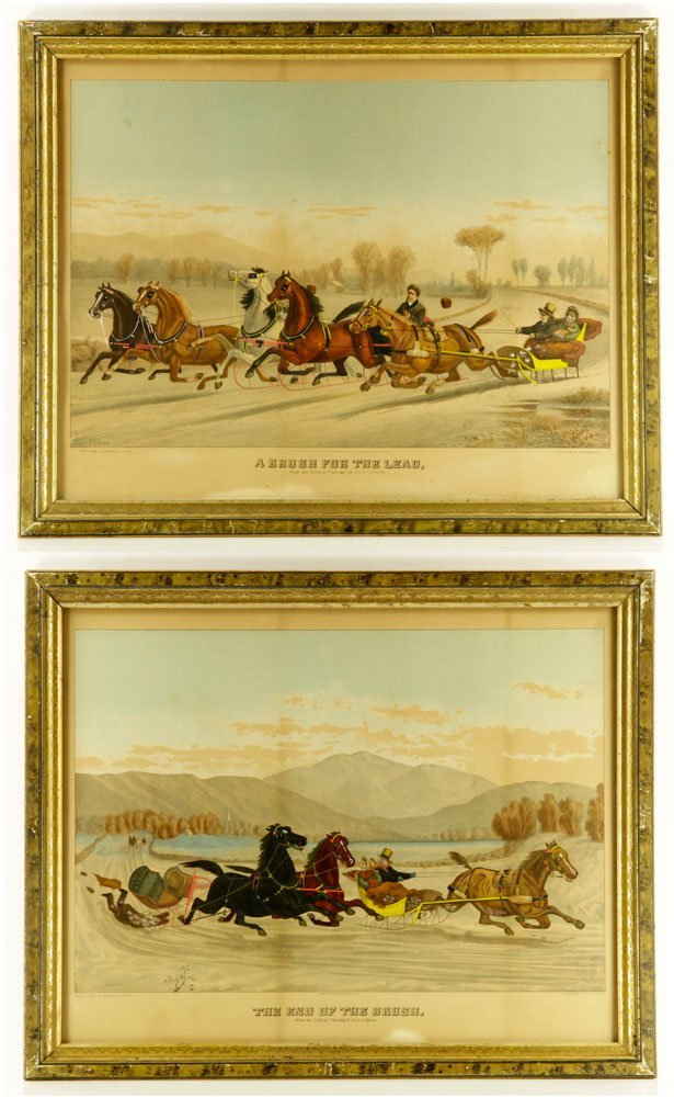 Pr. 19th C. Hand Colored Lithographs