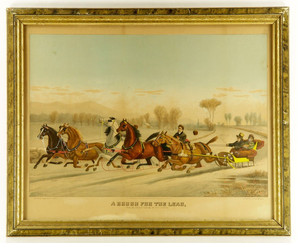 Pr. 19th C. Hand Colored Lithographs - 2