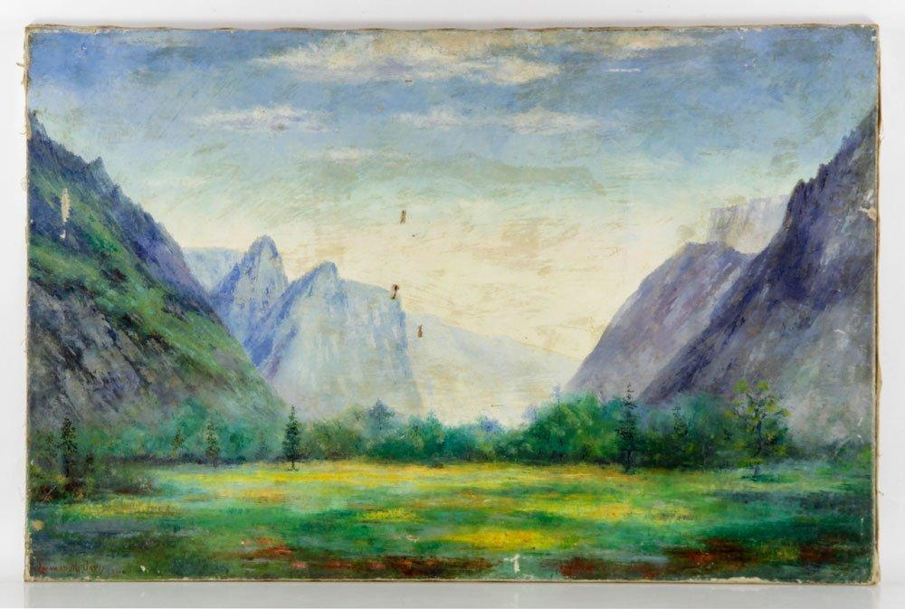 Davis, Western Mountain Landscape, Oil on Canvas