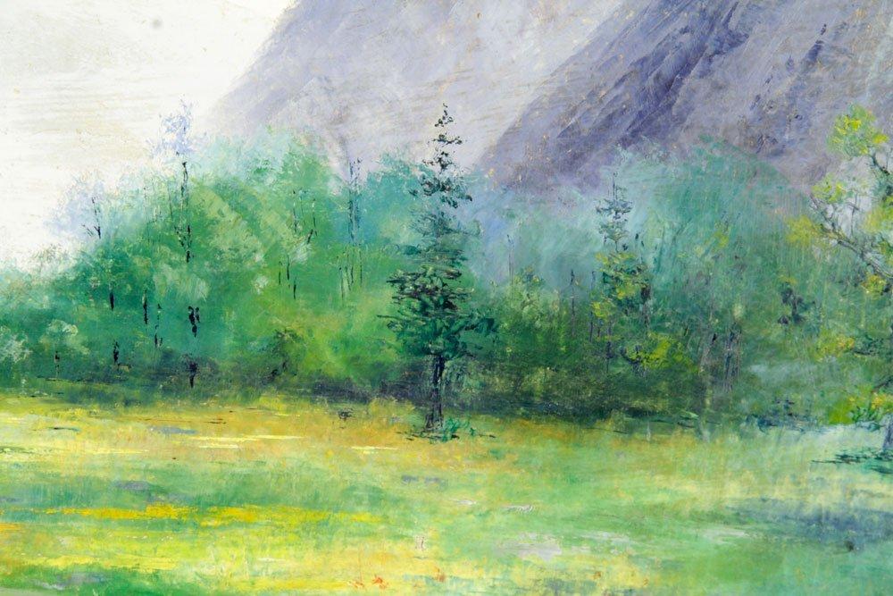 Davis, Western Mountain Landscape, Oil on Canvas - 3