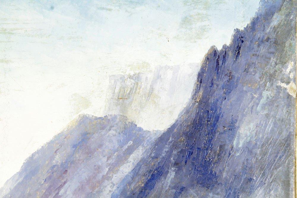 Davis, Western Mountain Landscape, Oil on Canvas - 4