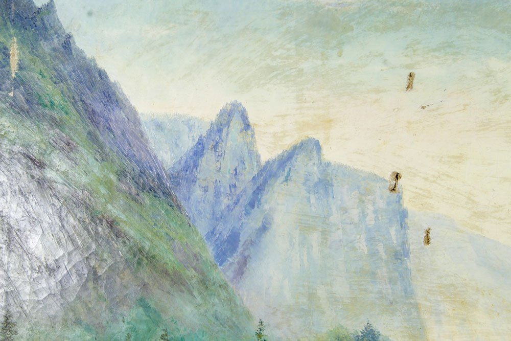 Davis, Western Mountain Landscape, Oil on Canvas - 5