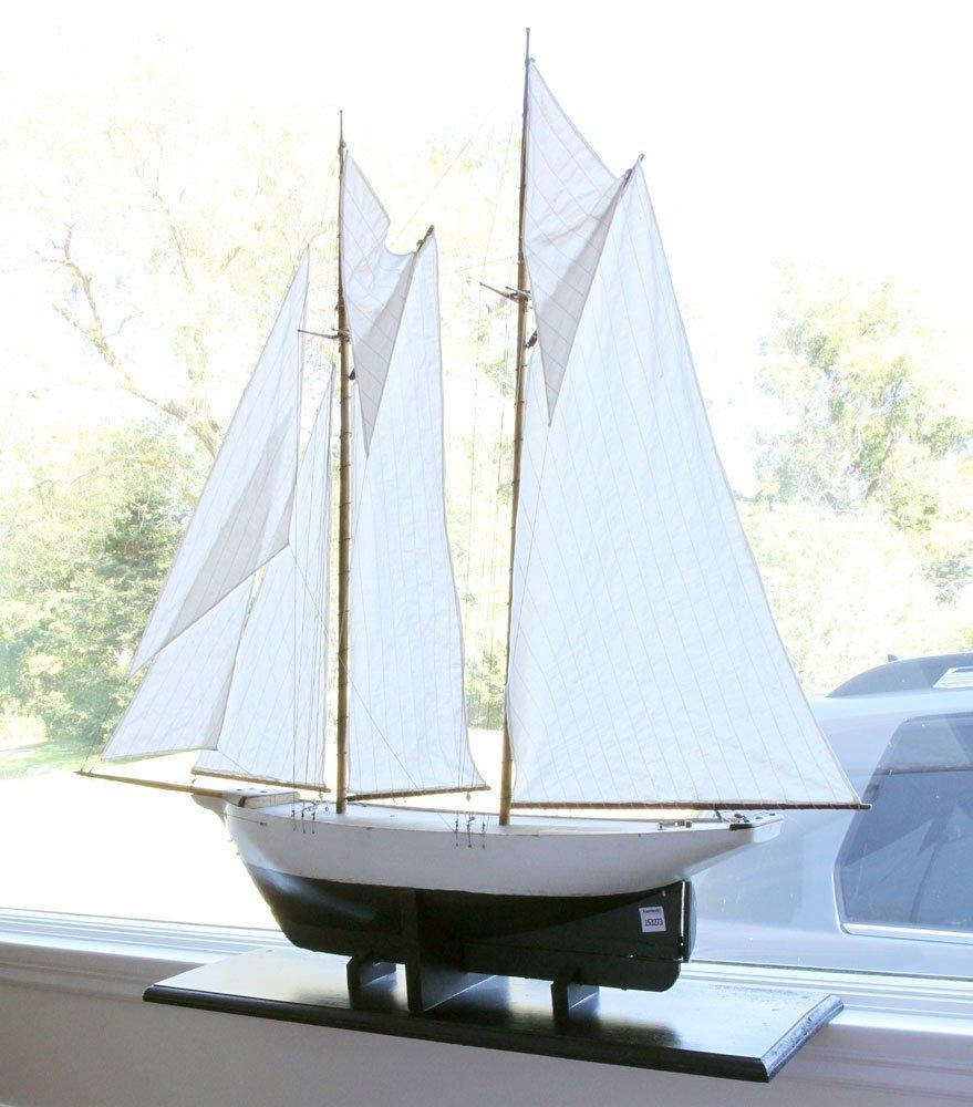 Antique Pond Model Sailing Ship