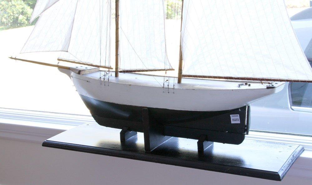 Antique Pond Model Sailing Ship - 2