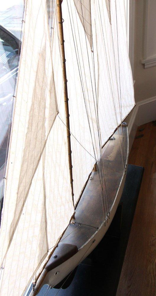 Antique Pond Model Sailing Ship - 5