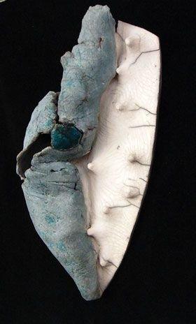 1004: Meredith Morten, Landscape, Raku fired Stoneware