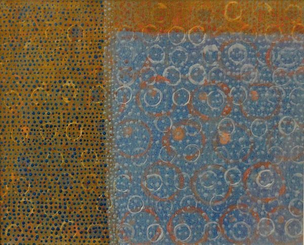 1025: Diane Ayott, Weather Pattern, Oil on Paper Board