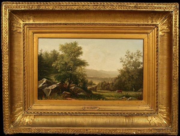 4: CHARLES W. KNAPP, LANDSCAPE, OIL ON CANVAS