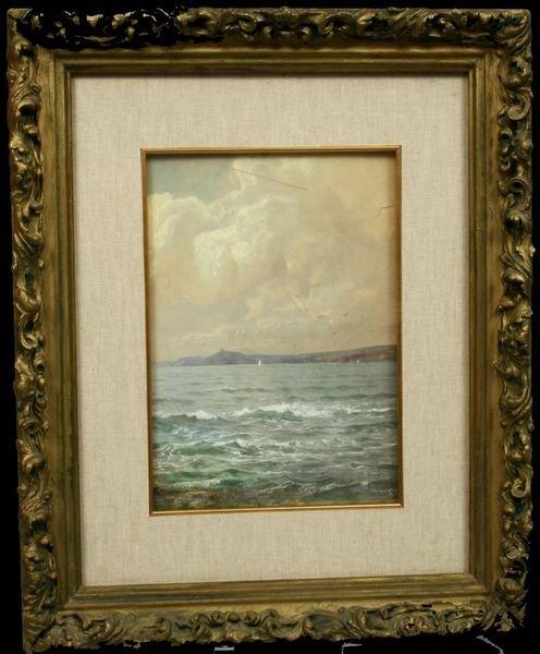 5: SIGNED WILLIAM T. RICHARDS, WAVES, W/C, 1880