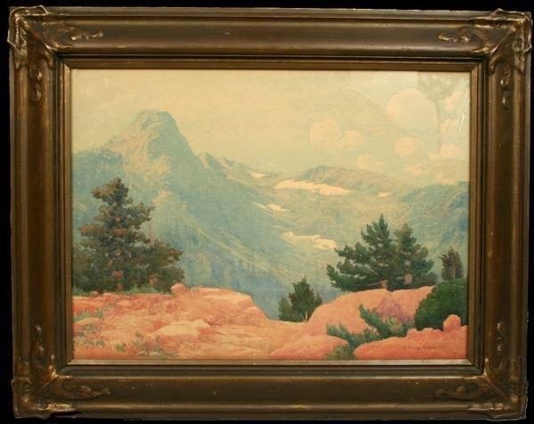 7: SIGNED LOUIS K. KLINGELHOFER, YOSEMITE, W/C