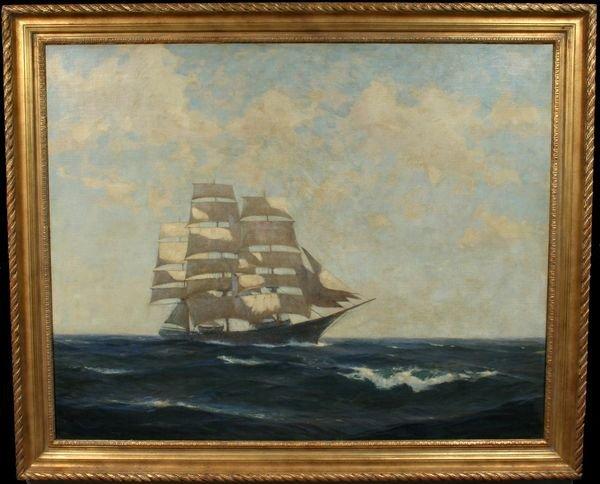10: SIGNED GORDON HOPE GRANT, SHIP AT SEA, O/C