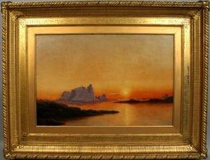43: SIGNED WILLIAM BRADFORD, ARCTIC SUNSET, O/C