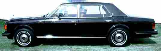 351A: 1984 BLACK ROLLS ROYCE SILVER SPUR, 22K MILES