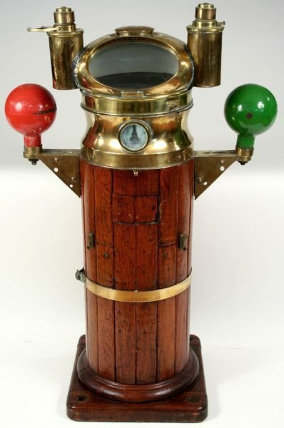 3008: 19th/20th C. Ship's Binnacle  C. Wheilbach & Co