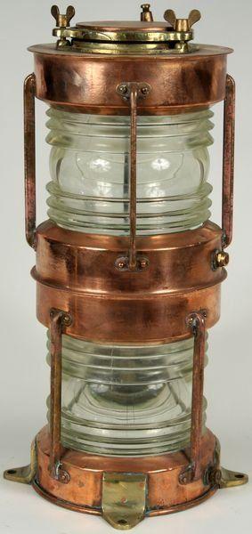 3014:  20th C. Copper & Brass 360 Degree Ship's Lantern