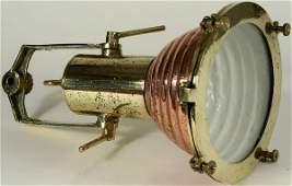 3069 Circa 1940 Brass and Copper Ships Cargo Lamp