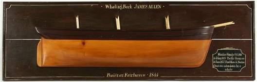 3090 20th C  Half Model  Whaling Bark James Allen
