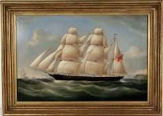 4001 R B Spencer 19th C Clipper Ship OC