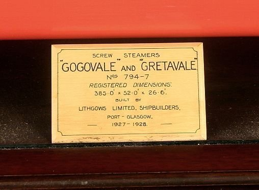 4012: Half Model Screw Steamer's Gogovale &Gretavale - 4
