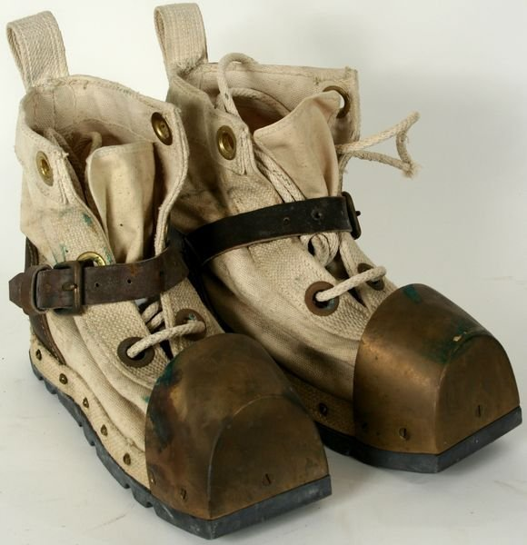 4014:20th C. Leather and Brass Deep Sea Diver Boots