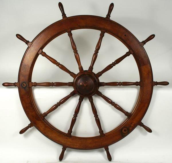 4016: Early 20th Century Ten-Spoke Ship's Wheel