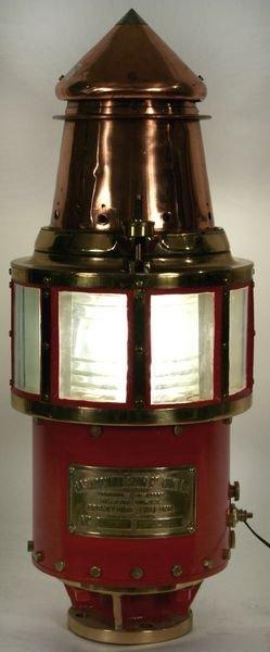 4020: Circa 1930 Copper, Bronze and Steel Beacon Light