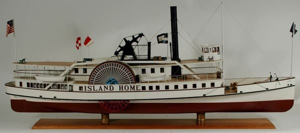 4067: 20th C. Model of the Paddle Steamer 'Island Home'