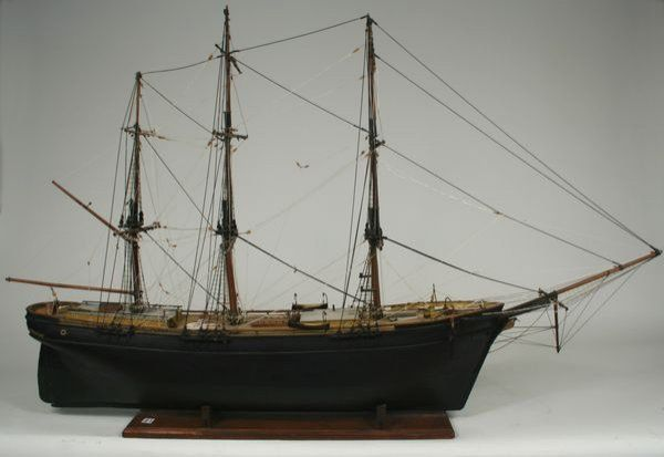 Large Early 20th C. Model of Packet Ship 'Linet'