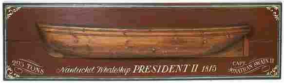 4155 20th C Carved Half  Model of President II