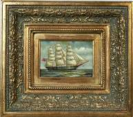 4223 Signed H Parker 20th Century Clipper Ship OB