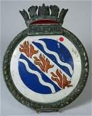 4243: Ship's Plate, British Royal Naval Vessel Helford