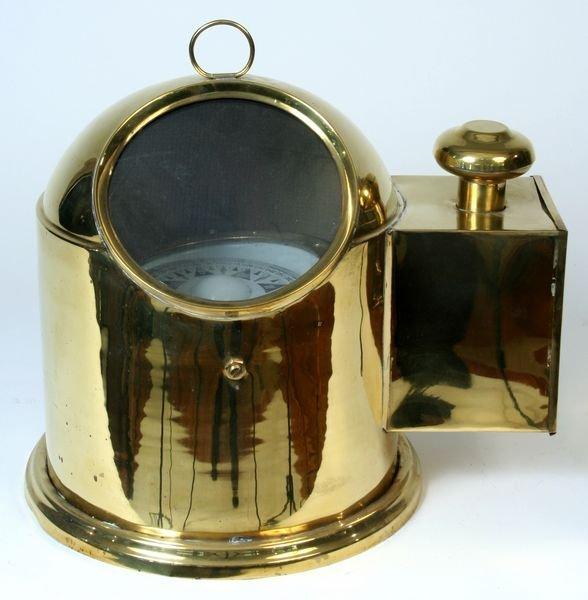 4246: Late 20th C. Reproduction Brass Ship's Binnacle