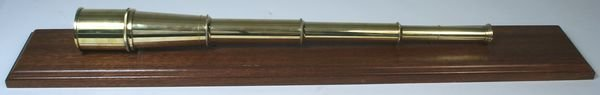 4265: 20th C. Solid Brass Three-Draw Ship's Spyglass