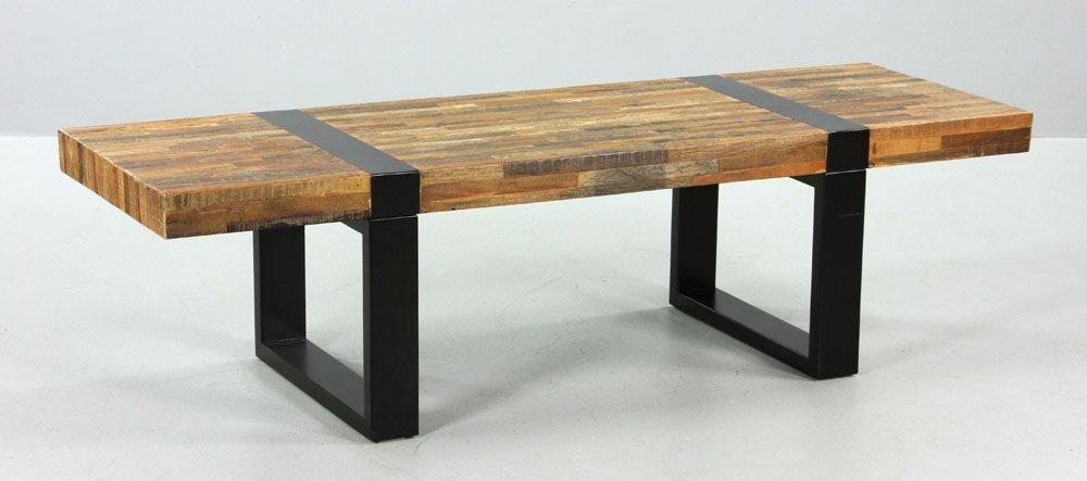 Modern Checkered Wood Bench