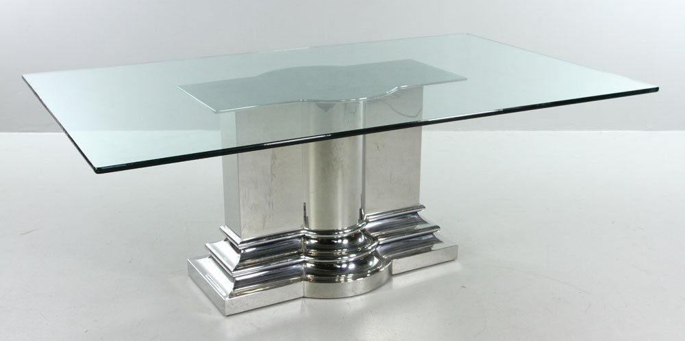 Modern Stainless Steel Dining Table