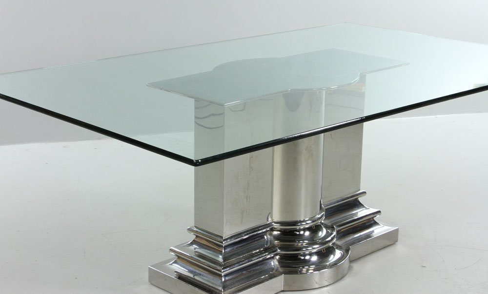 Modern Stainless Steel Dining Table - 2