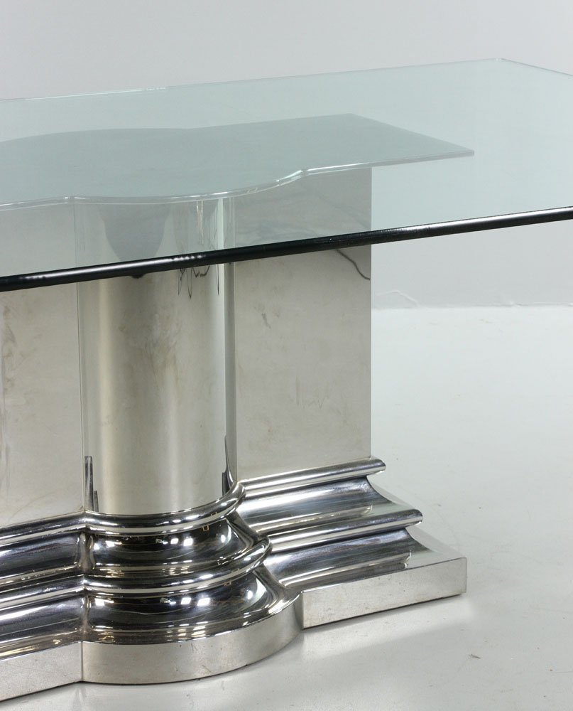 Modern Stainless Steel Dining Table - 3
