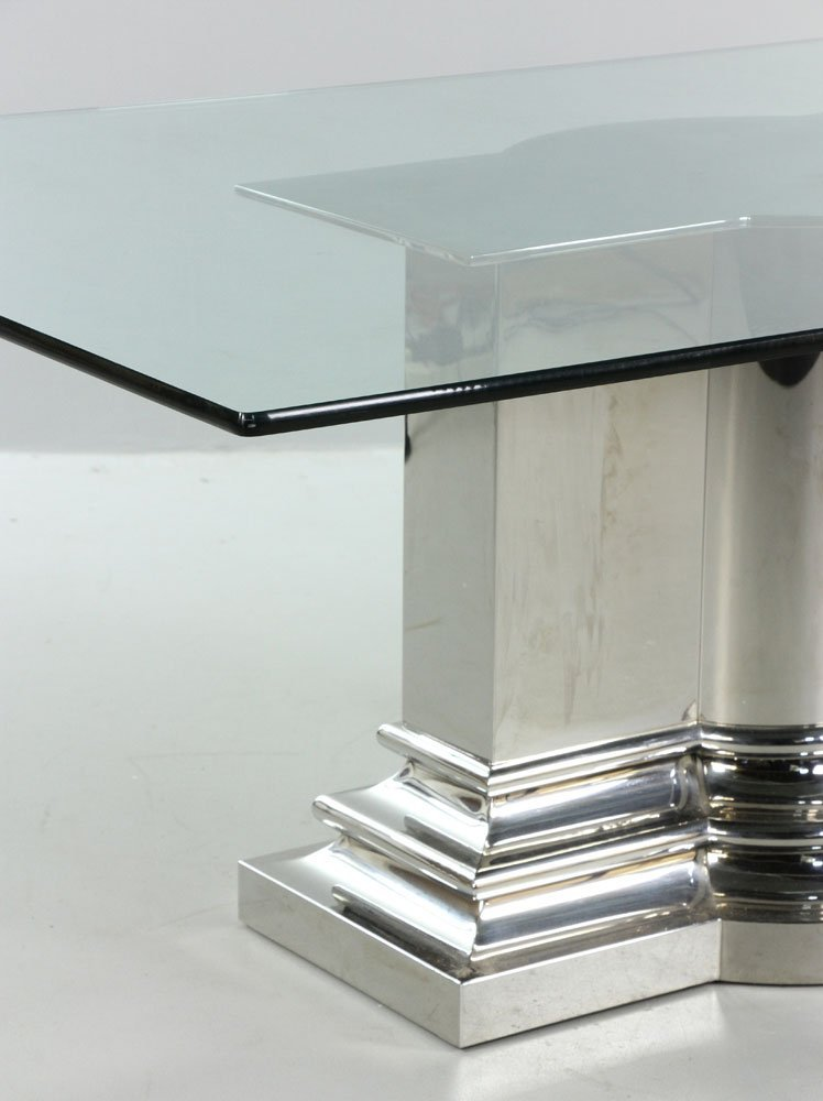 Modern Stainless Steel Dining Table - 4