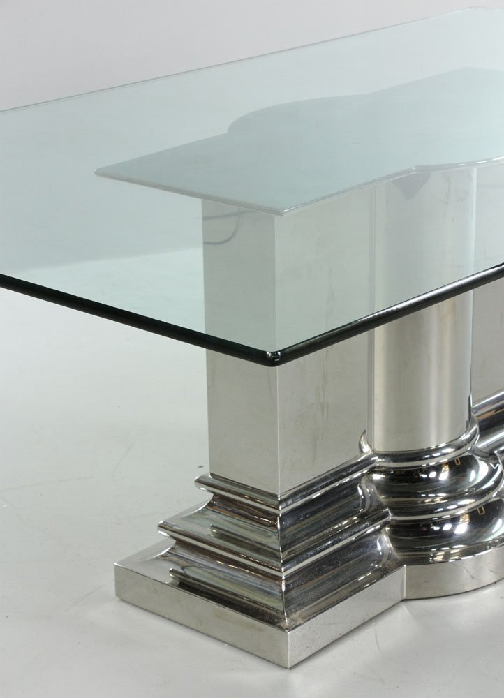 Modern Stainless Steel Dining Table - 5