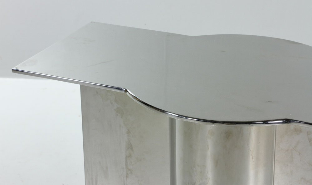 Modern Stainless Steel Dining Table - 9