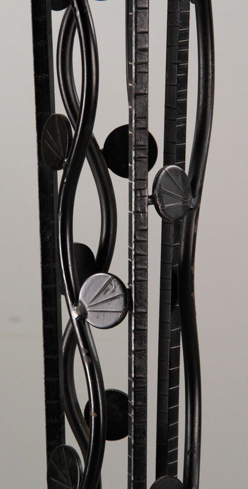 Pr. Art Deco Style Wrought Iron Floor Lamps - 4
