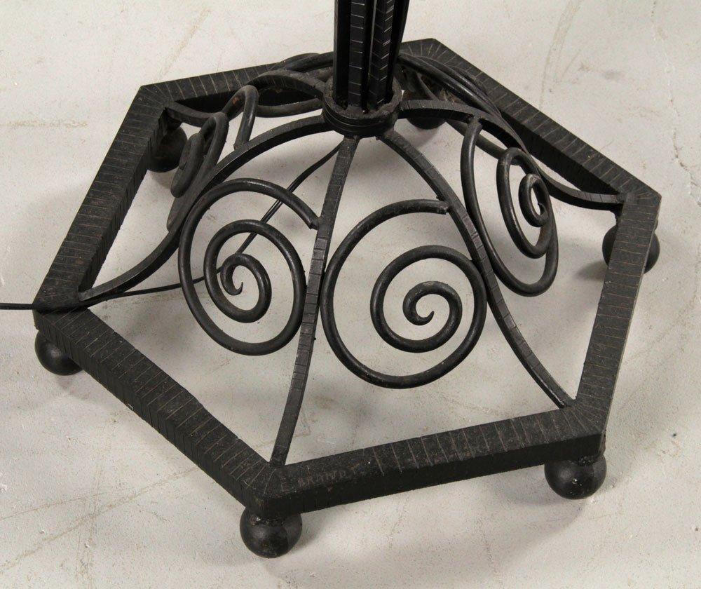Pr. Art Deco Style Wrought Iron Floor Lamps - 5