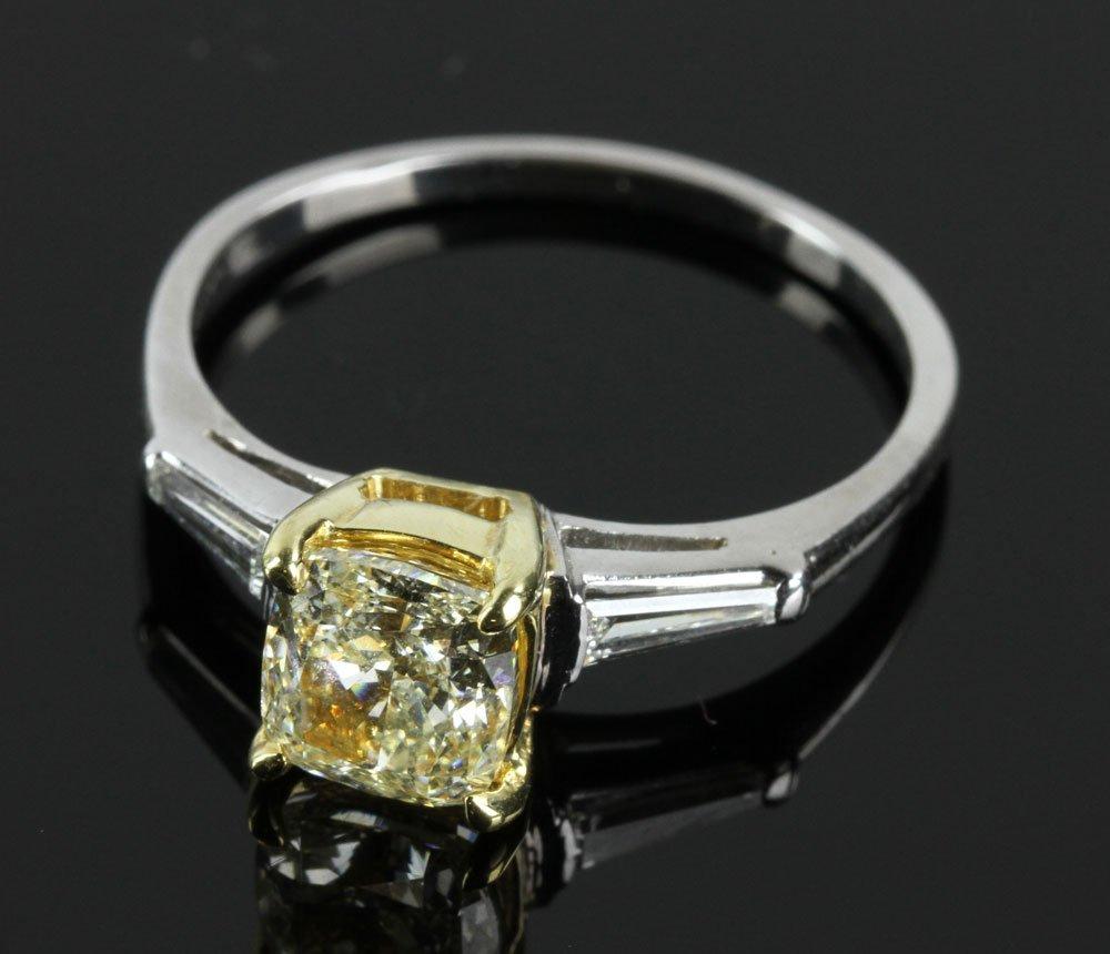 Ladies' 18K Gold and Platinum Ring