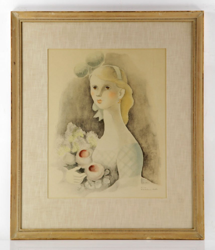 Luka, Portrait of a Girl with Long Neck, Print