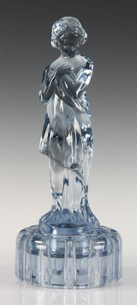 Blue Glass Figure of Girl