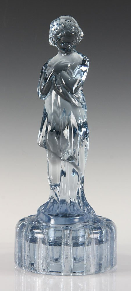 Blue Glass Figure of Girl