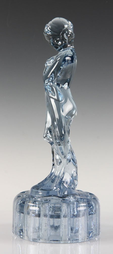 Blue Glass Figure of Girl - 2