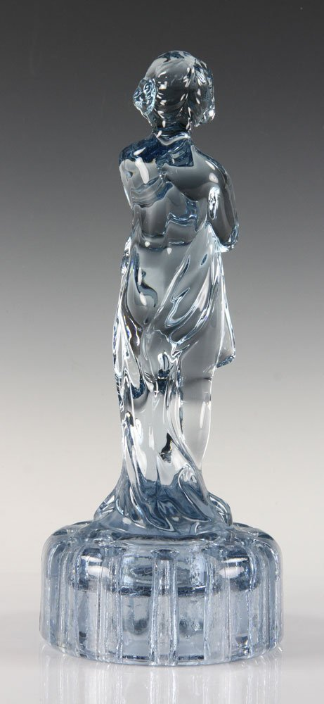 Blue Glass Figure of Girl - 3