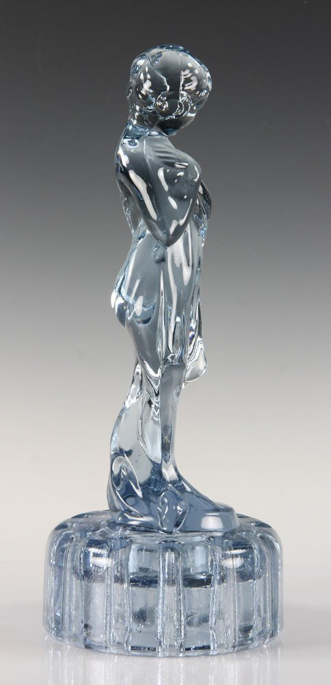 Blue Glass Figure of Girl - 4